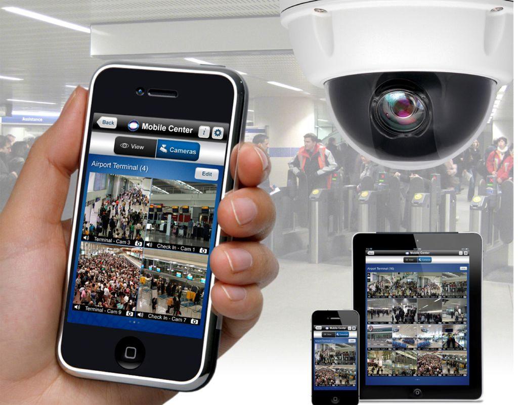 انتفال تصویر دوربین مداربسته روی انترنت و موبایل (شرکت گرانیت سازان)