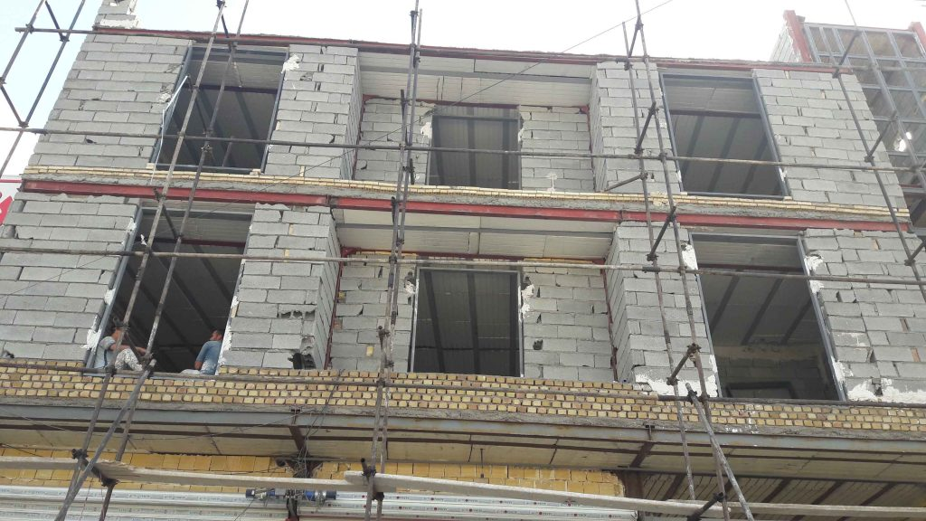 مراحل ساخت ساختمان شرکت بروزسافت